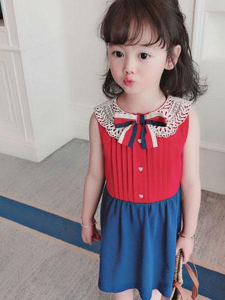 同宣童装品牌2019春夏韩版洋气淑女女童连衣裙