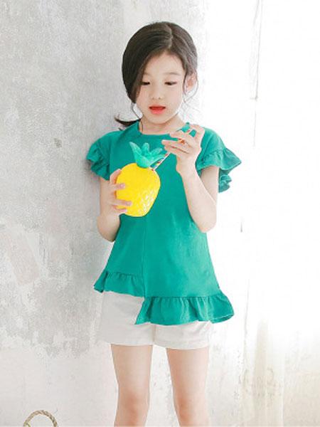 迪菲奥童装品牌2019春夏外穿韩版弹力棉T恤