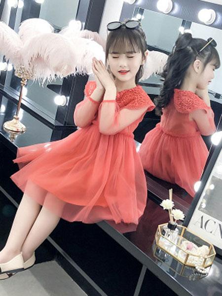 韩宸童装品牌2019春夏网纱裙中大童公主裙