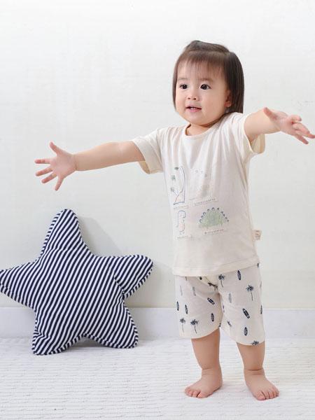 璎璎芽童装品牌2019春季短袖+短裤家居服套装儿童睡衣