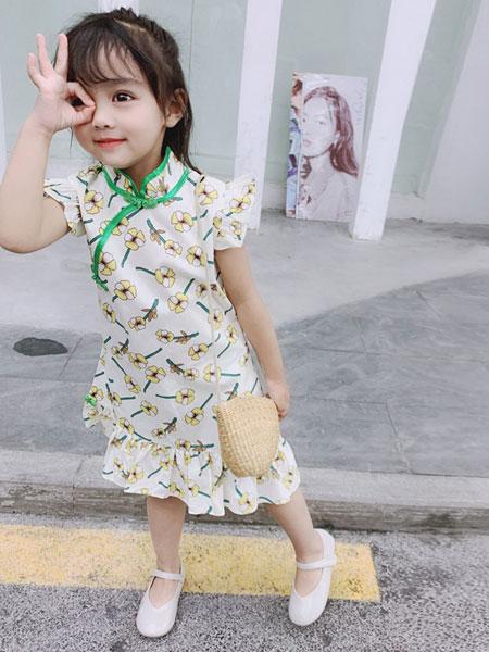 如愿童话童装品牌2019春夏中国风鱼尾旗袍连衣裙