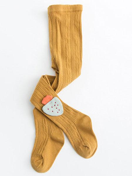 萌堡童装品牌2019春夏纯色连裤袜竖条麻花精梳棉打底裤袜子