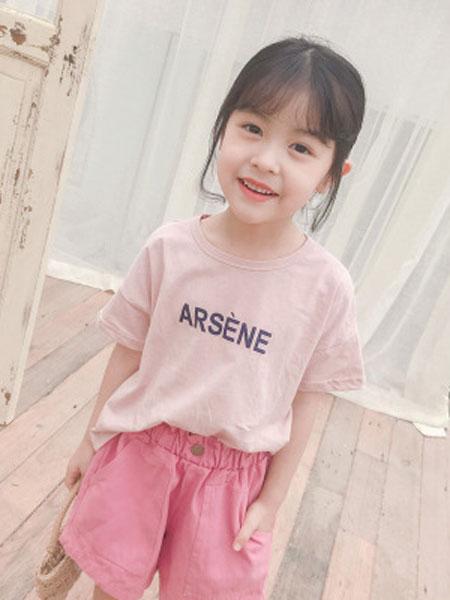 米多家M do+童装品牌2019春夏韩版男女童经典字母T恤衫