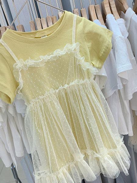 米多家M do+童装品牌2019春夏T恤+吊带裙两件套