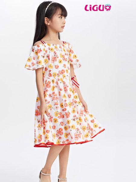 嘉赫蓥童装品牌2019春夏时尚吊带印花连衣裙