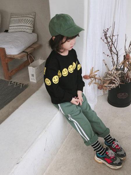 番茄土豆童装品牌2019春夏毛圈棉休闲裤长裤校服裤