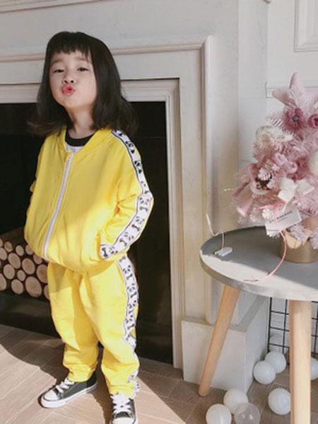 番茄土豆童装品牌2019春夏休闲装儿童衣服两件套