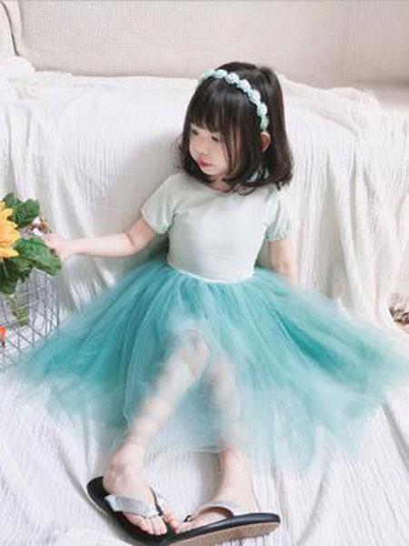 番茄土豆童装品牌2019春夏网纱蓬蓬礼服纱裙