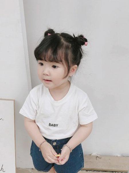番茄土豆童装品牌2019春夏字母印花T恤