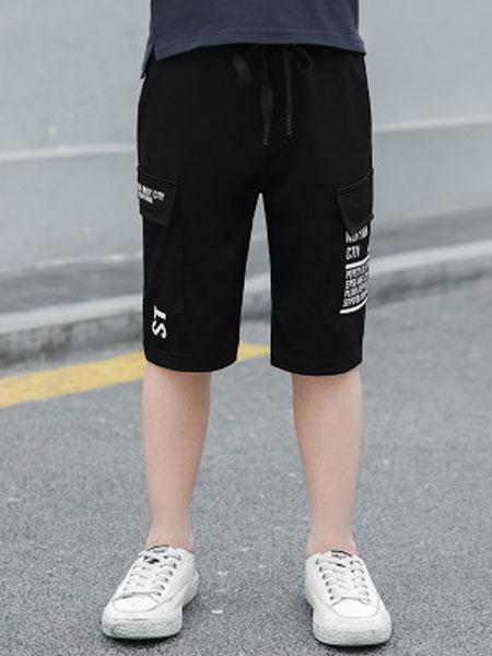 东诺童装品牌2019春夏七分裤儿童休闲短裤