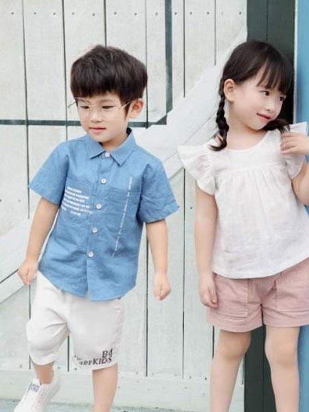 巴迪小虎园服童装品牌2019春夏时尚洋气套装