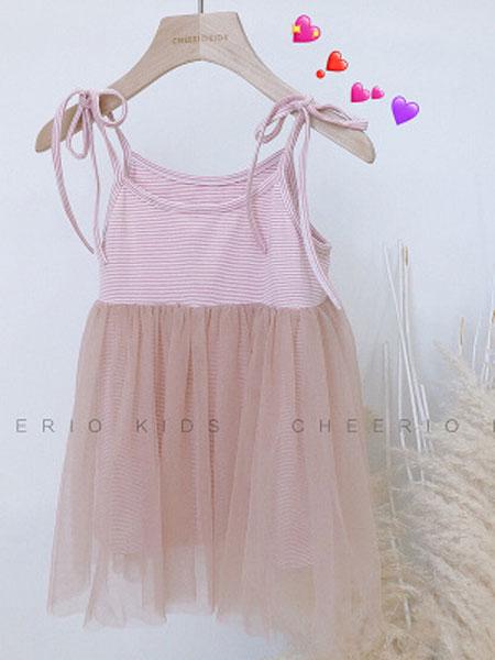CHEERIO KIDS童装品牌2019春夏女童吊带纱裙