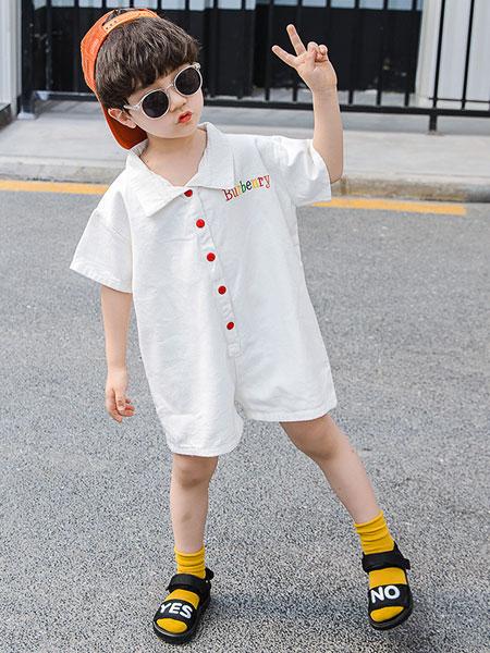 盛盛童装品牌2019春夏短袖全棉假两件童