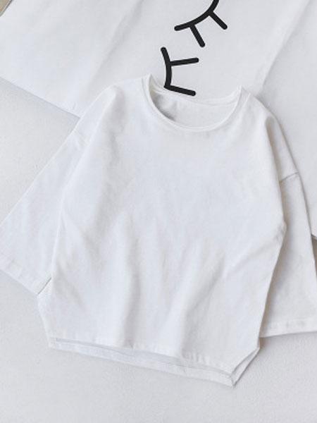 BAPELET KIDS童装品牌2019春夏棉梭织男宝宝女宝宝波点后扣2件套