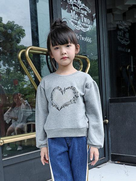 佳童宝童装品牌2019春夏长袖上衣圆领套头衫
