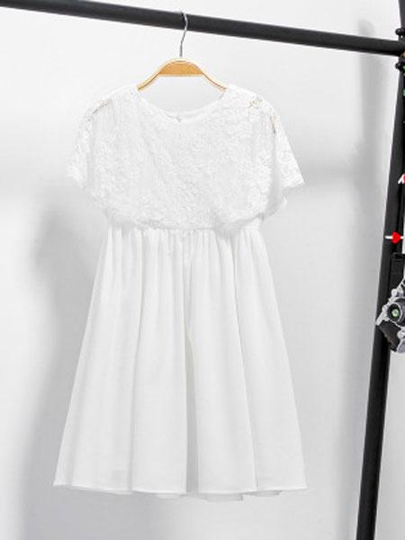 佳童宝童装品牌2019春夏短袖超洋气裙子公主裙
