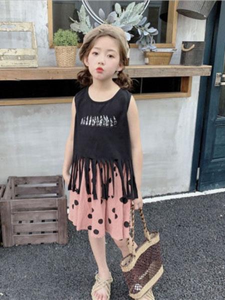李纯童装品牌2019春夏韩版女童半身裙