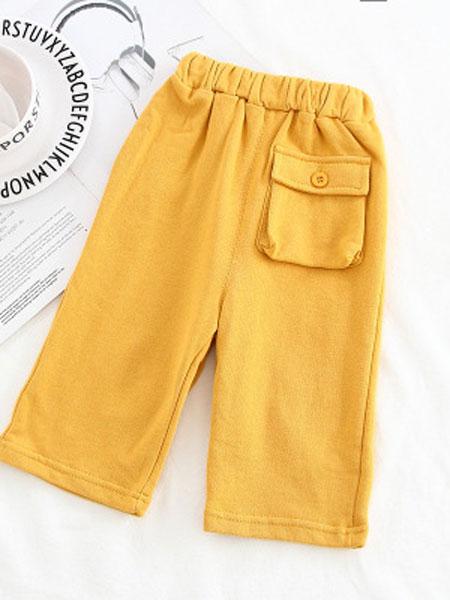 豆咔布咔D.K.B.K童装品牌2019春夏糖果色薄款一粒扣百搭长裤