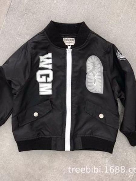 TREEBIBI童装品牌2019春季两色印花棒球服儿童夹克