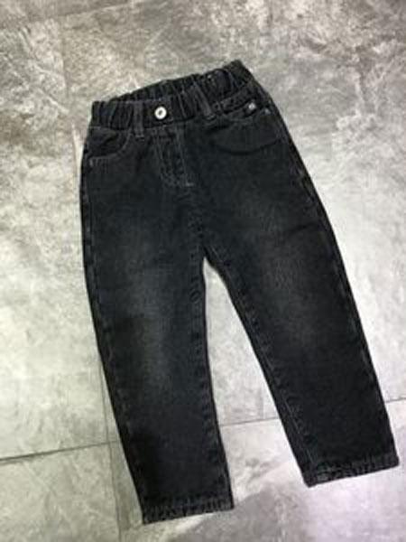 TREEBIBI童装品牌2019春季口袋印花牛仔裤