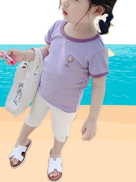 尤兰达童装品牌2019春夏洋气长袖T恤针织衫