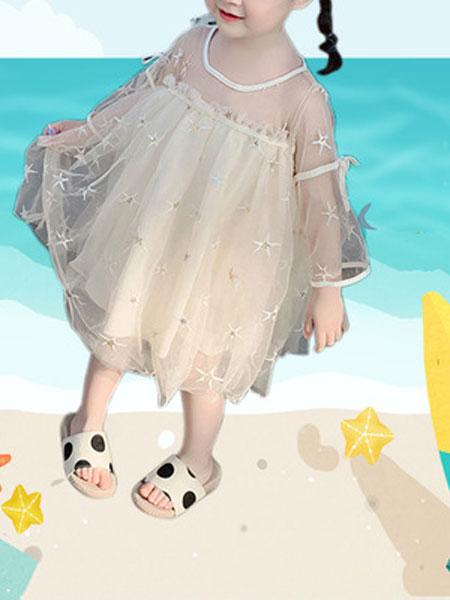 尤兰达童装品牌2019春夏洋气女童星星公主纱裙
