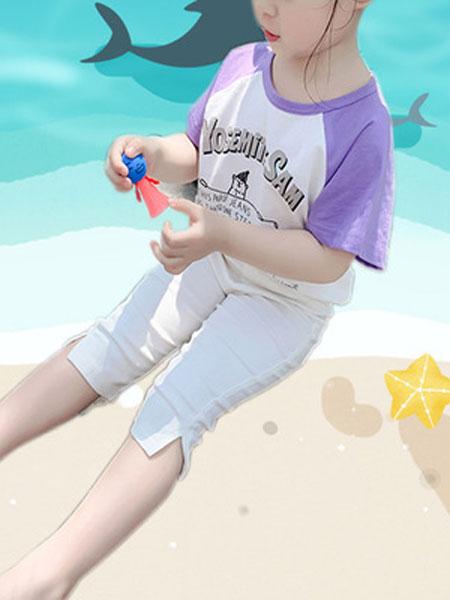 尤兰达童装品牌2019春夏洋气修身七分裤