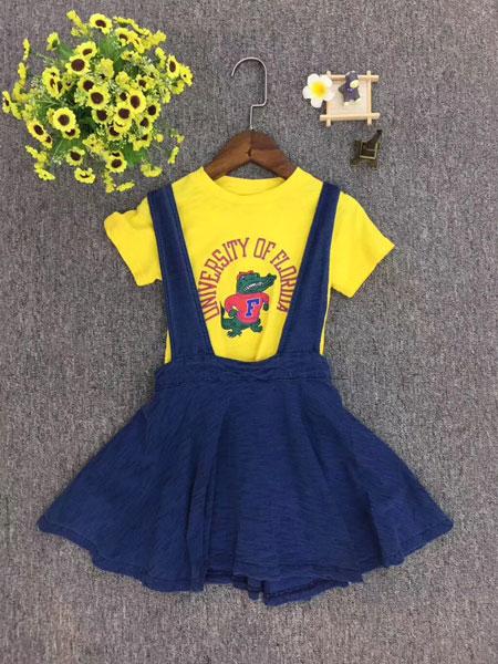 品牌童装巴拉巴拉童装品牌2019春夏假两件连衣裙