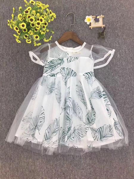 品牌童装巴拉巴拉童装品牌2019春夏蕾丝时尚连衣裙
