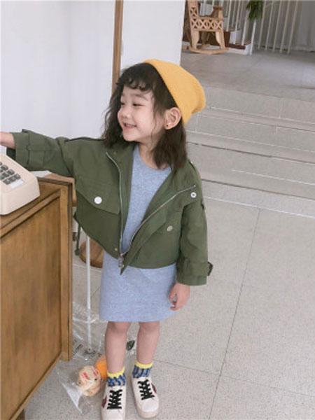 品诺童装品牌2019春夏机车服外套+全棉背心长裙两件套