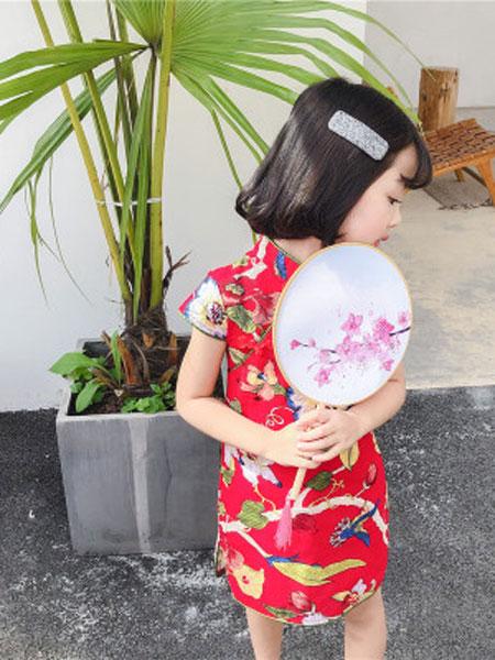 品诺童装品牌2019春夏中国风旗袍修身款童裙