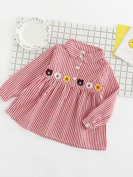 贝哚童装品牌2019春夏衬衫全棉长袖上衣休闲女中大童衬衣