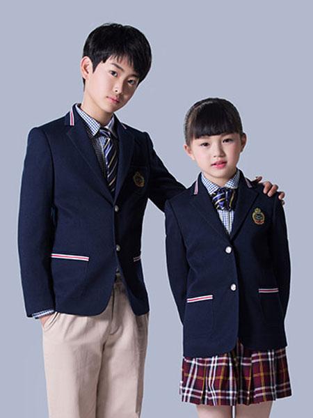 意威童装品牌2019春夏西装校服班服套装