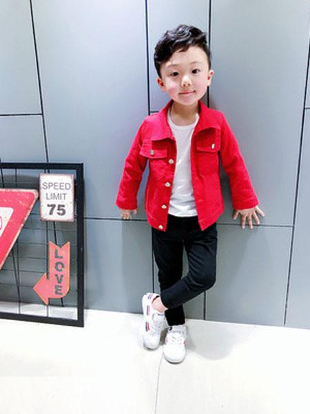 速酷童装品牌2019春夏弹力牛筋夹克外套