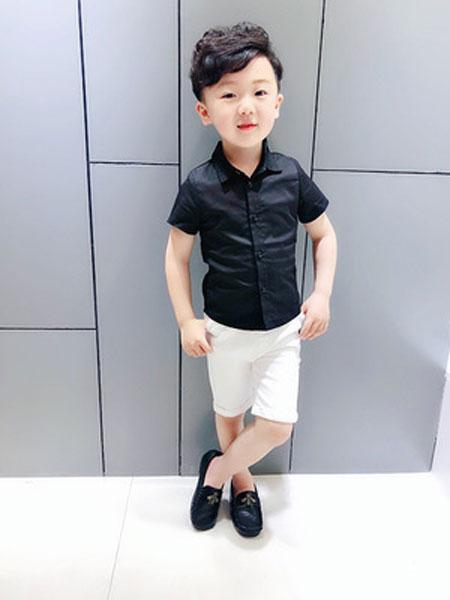 速酷童装品牌2019春夏儿童翻领打底衬衣