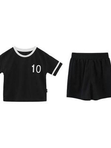 婴柚橙童装品牌2019春夏透气男童运动套装