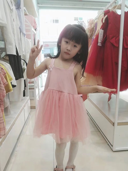 可米芽童装品牌2019春夏吊带时尚纱裙