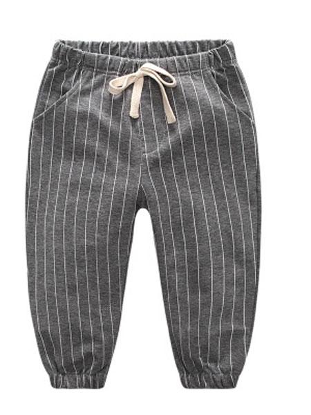优优之家童装品牌2019春夏休闲裤长裤条纹
