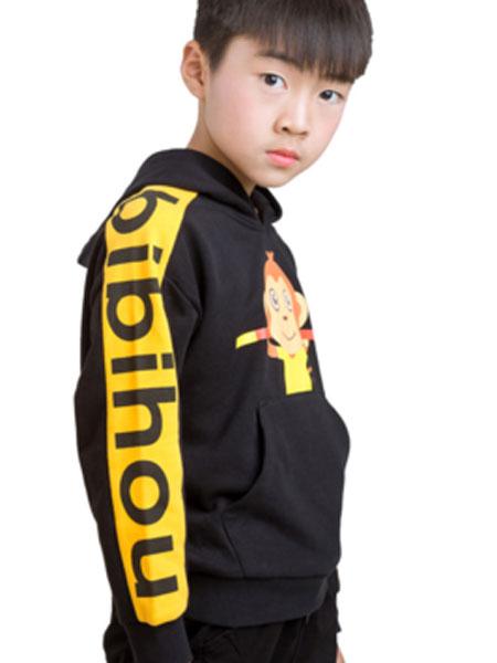 笔笔猴童装品牌2019春夏T恤长袖连帽衫