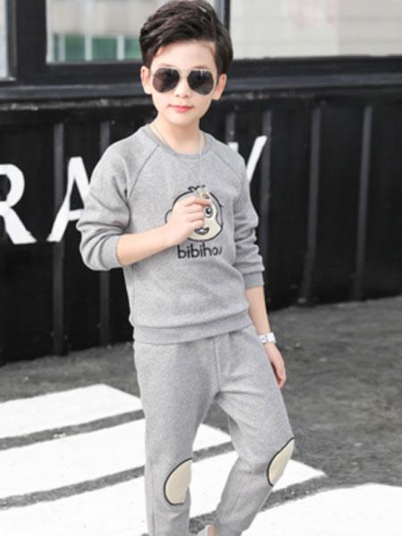 笔笔猴童装品牌2019春夏儿童运动套装潮