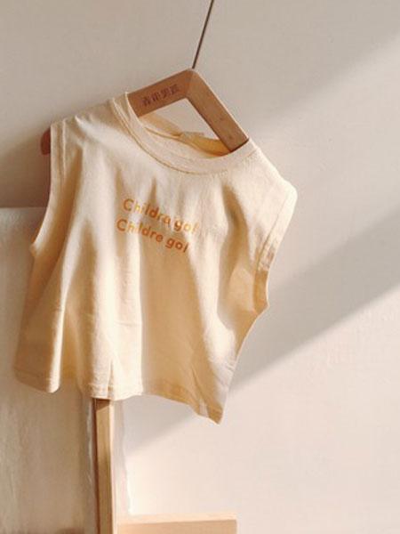 小米羊童装品牌2019春夏韩版男童纯棉无袖T恤