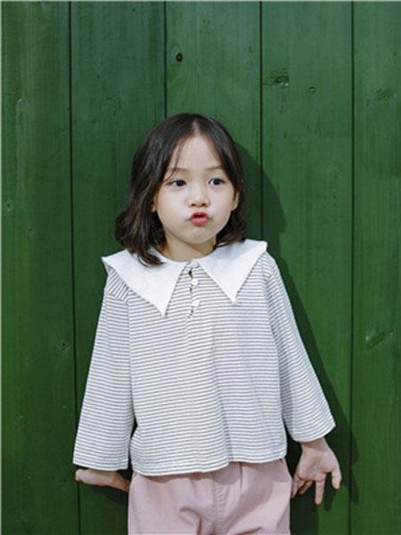 米可朵儿童装品牌2019春夏条纹时尚T恤