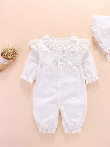 特酷熊童装品牌2019春季婴儿连体爬服