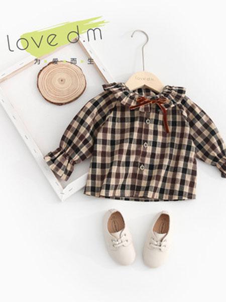 棉朵童装品牌2019春夏可爱花边领宝宝衬洋气娃娃衬衫