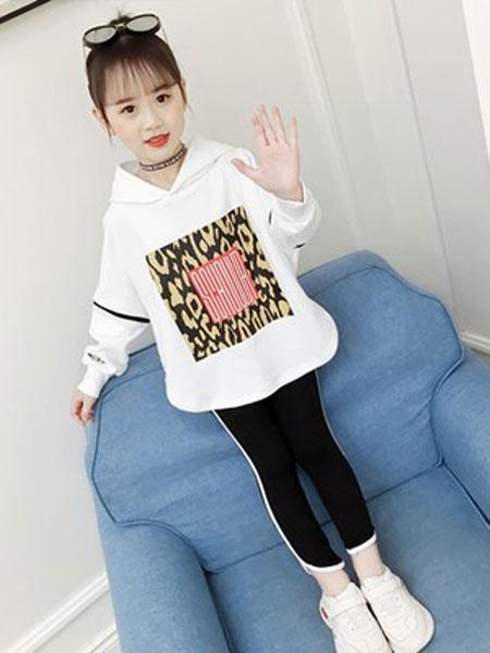 尚舞童装品牌2019春夏时尚洋气女孩时髦潮衣两件套