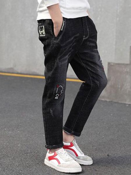 尚舞童装品牌2019春夏休闲牛仔工装裤