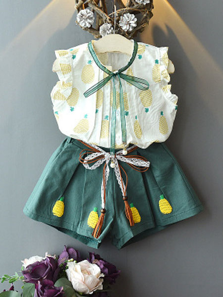 静依童装品牌2019春夏时尚纱裙两件套装