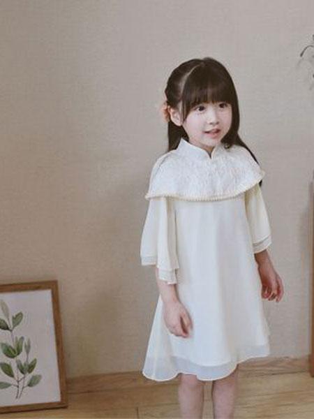 MINI MOON童装品牌2019春夏女童连衣裙