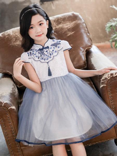 巧乐虎童装品牌2019春夏女孩韩版公主裙