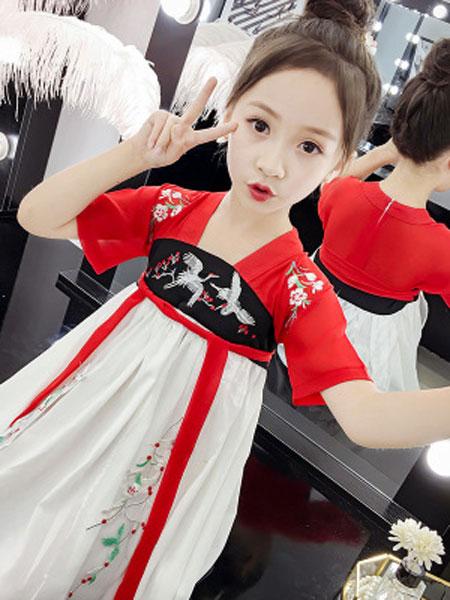 巧乐虎童装品牌2019春夏儿童汉服齐胸襦裙